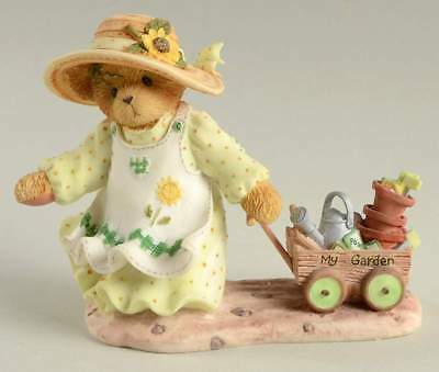Cherished Teddies retired NIB. Savanah 2002 members Only garden cart CT021