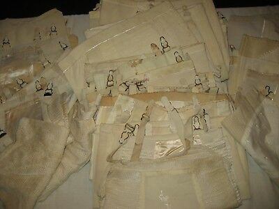 Vintage Ladies Girdles White New Old Stock Size Small And Medium 34  In Lot