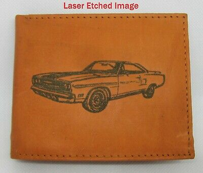 Mens Leather Bi-Fold Wallet w// DALE EARNHARDT #3 GOODWRENCH *Great Gift*