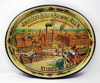 Vintage Anheuser Busch Serving Tray, St. Louis, Mo. Factory - Man Cave Necessity
