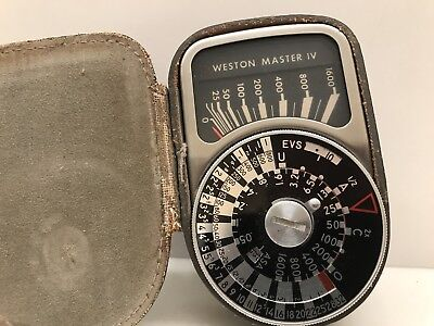 Vintage Weston Master IV Exposure Meter Model 745 with Leather Case