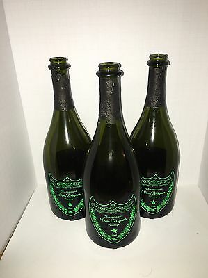 dom perignon champagne Luminous Bottle 750ml 3 Pack Free Shipping