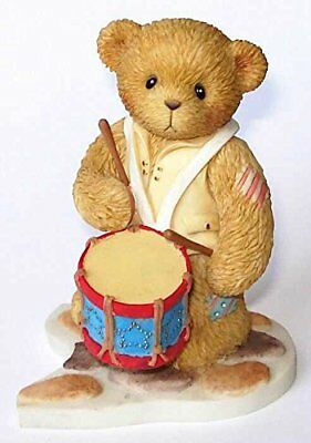 Cherished Teddies retired NIB. Grant Ready to Answer Freedom's Call drum 112398