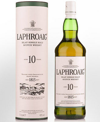 Laphroaig 10 Year Old Single Malt Scotch Whisky (1000ml)