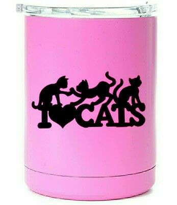 Love Cats Vinyl Decal