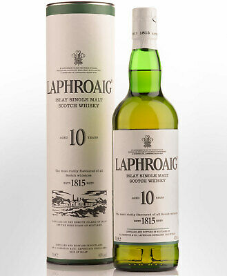 Laphroaig 10 Year Old Single Malt Scotch Whisky (700ml)