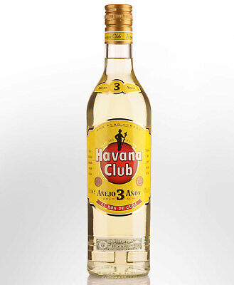 Havana Club 3 Year Old Anejo Blanco (White) Rum (700ml)