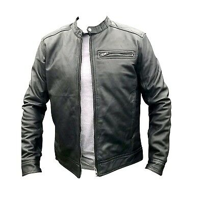 Mens 100% Genuine Leather Jacket Regular Fit Real Biker Casual Party New S-2Xl