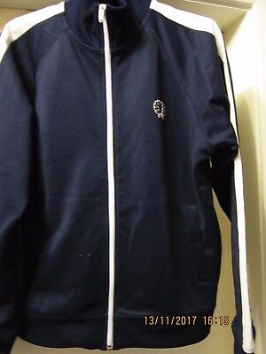 Boys Fred Perry Zip Up Tracksuit Jacket Size Large