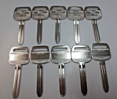 Lot of 10 TR47 Key Blank / Nickel Plated /ILCO Made in USA / Big Head / New