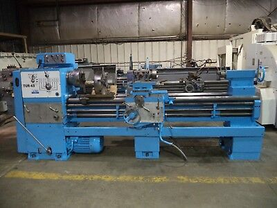 "Polamco Model TUR-63, 24"" X 80"" Geared Head Engine Lathe, w/ 3 & 4 Jaw Chucks"