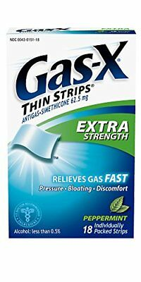 6-PACK Gas-X Extra Strength Peppermint Thin Strip for Fast Gas Relief, 18 Count