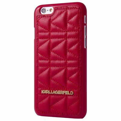 Karl Lagerfeld Kuilted Red Hard Case Iphone 6 Plus Klhcp6Lqr