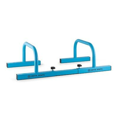(Blue) - Capital Sports Paralo Parallettes Pair (Flat Parallettes for Weight