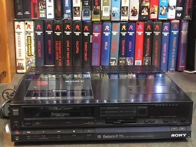 HiFi Betamax top of the range Sony SL-HF100AS Beta VCR- use to copy tapes to DVD