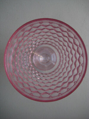 New Villeroy & Boch Crystal Pink Wine Goblet Glass Boston Made Germany Lady Gift