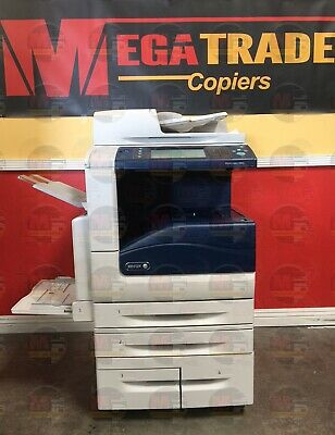Xerox WorkCentre 7855 Color Copier Machine Printer Scanner Fax Finisher Network