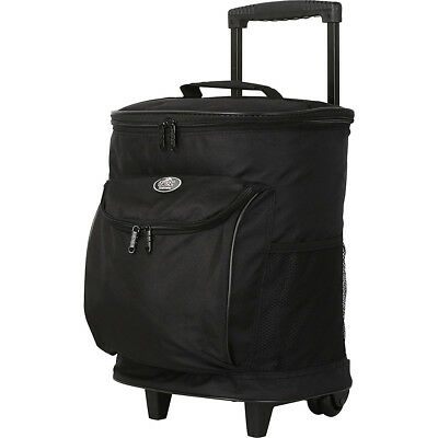 "Travelers Club Luggage 16"" Cool Carry 2-Section Rolling Outdoor Cooler NEW"