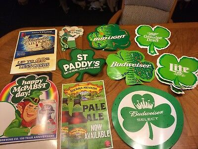 Vintage Lot of 37 Paper St. Patrick's Day Bar Signs