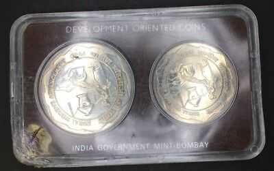 1980 India Development Oriented Coins Rural Women'S Advancement 10 & 100 Rupees