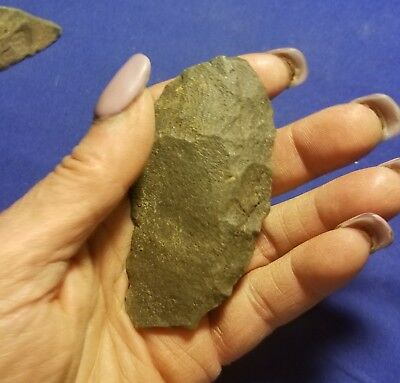 Ancient Ok Paleo Knife Blade Arrowhead Point Artifact Scraper Hand Tool Weapon