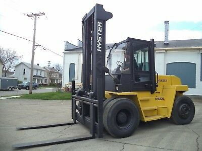Hyster H165XL/2, 16,500#, 16500# Pneumatic Tired Forklift, Diesel, Side Shift