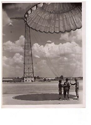 Original 82nd Airborne Training Tower Jumps 8x10 original photographs lot of 3