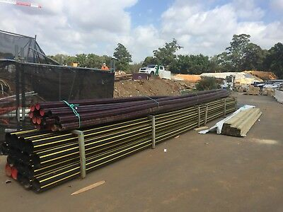 15 x110mm & 18 x 200mm x 12m POLYPIPE, see description