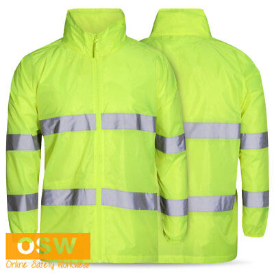 Hi Vis Safety Bio-Motion Adult/kids Rain Wet Weather Day/night Reflective Jacket