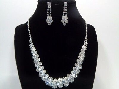 Jewelry-Set-Necklacet+Earring-Bridal_Fashion_Party Silve/Crys