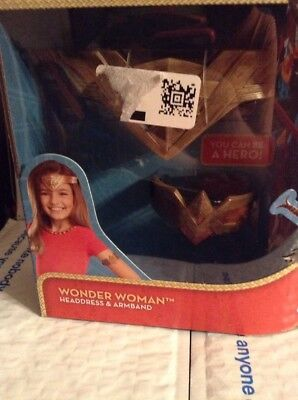 NEW! DC Comics Wonder Woman Headdress & Arm Band Mattel New