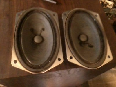 3 x 5 inch Seeburg Speakers 16 ohm Pair of 2 Wallbox DEC series tested good