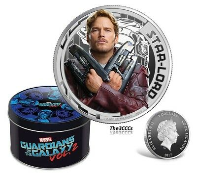 2017 Cook Islands Marvel Guardians of Galaxy STAR LORD Silver Proof Coin