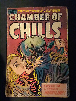 Chamber of Chills #23 CLASSIC ZOMBIE COVER GD- RARE!
