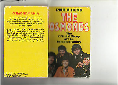 The Osmonds Official Story Of The Osmond Family Book Donny Signature 1975 U.k.