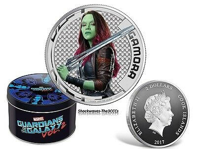 2017 Cook Islands Marvel Guardians of Galaxy GAMORA Silver Proof Coin
