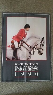 Poster from Washington International Horse Show  1990