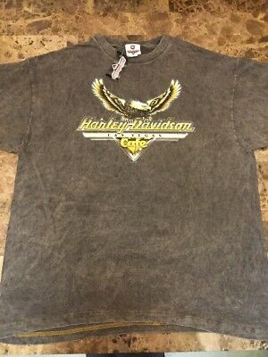 "New Harley-Davidson Vintage Las Vegas Cafe 1990s ""Washed"" T-Shirt XL Eagle"