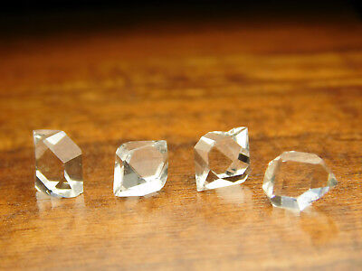 Four (4) Herkimer Diamond A Grade Water Clear DT Quartz Crystals New York