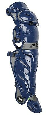 (Navy) - All-Star System 7 Axis Adult Leg Guards 42cm LG40WPRO. Brand New