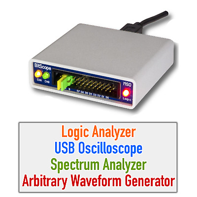 USB Oscilloscope Arbitrary Waveform Generator Digital RF Spectrum Analyzer Logic