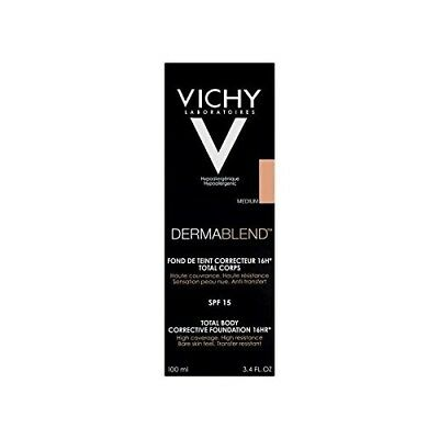 Vichy Dermablend Total Body Corrective Foundation Med 100ml (Pack of 4)