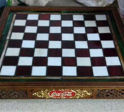 Franklin Mint Coca Cola Stained Glass Chess Se