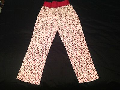Vintage Women's Pants 0 50s 1950s Spring Pink White Cropped Textured Rockabilly