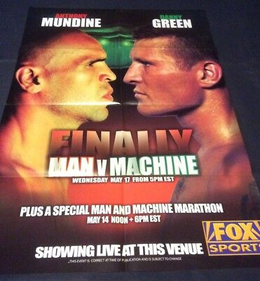 Mundine Green Fight Poster 2006 - The Fight That Stopped The Nation!