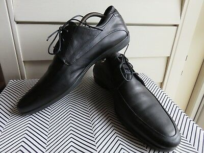 ad78a0c7d611 Italy Made PORSCHE DESIGN Milano 10.5 M Lace Up Derby Black Leather Men s  Shoes