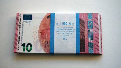 10 Euro 80 PCS Paper Money FOR GAME