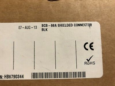 National Instruments SCB-68A Shielded Connector Block 782536-01 NEW in box $356