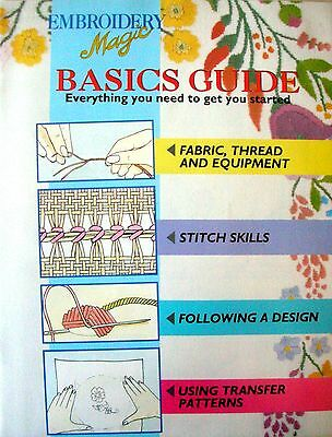 EMBROIDERY MAGIC No.1 - 6 Designs with Iron-on Patterns Creative Embroidery VGC