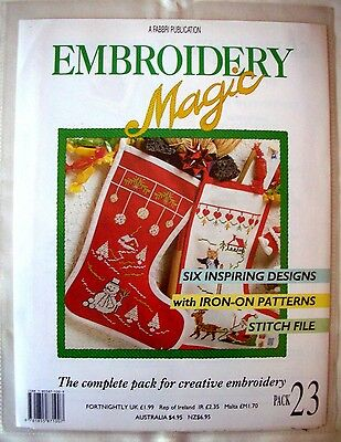 EMBROIDERY MAGIC No.23 - 6 Designs with Iron-on Patterns Creative Embroidery VGC